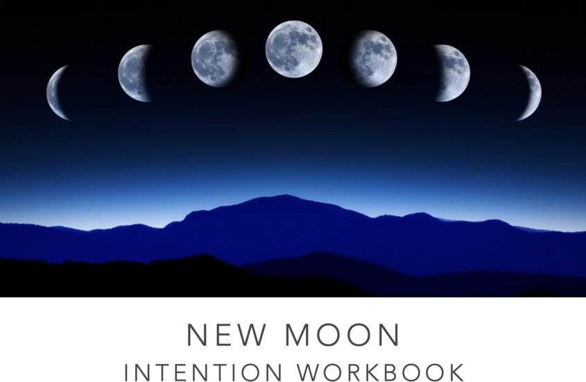 New moon intention workbook