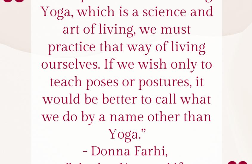 why you aren't actually a yoga teacher unless