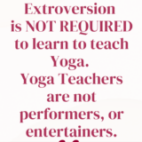 you don't have to be an extrovert to teach yoga